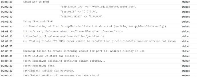 pihole error pg5