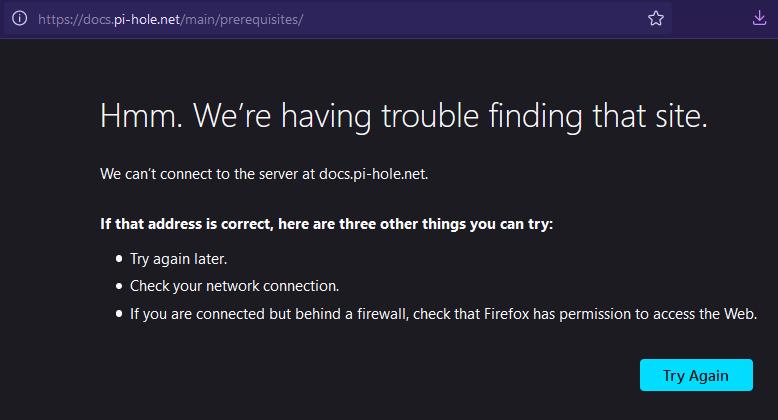 failed page load